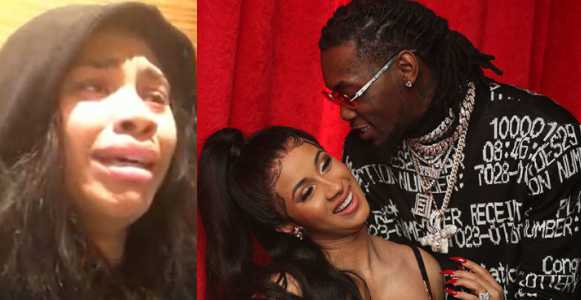 Offset's alleged mistress tearfully apologizes for affair after couple split (video)