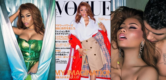 Nicki Minaj Shares Sultry Photos As She covers Vogue Japan's February 2019 Issue