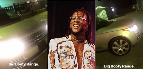 Burna Boy acquires Range Rover as a Christmas Present to Himself