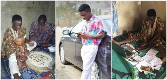 Photos of a young, clean and educated babalawo go viral