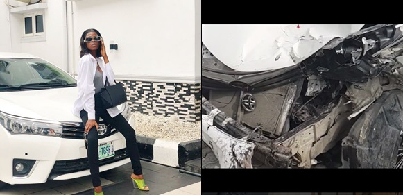 Just a month after having an accident, Khloe gets her car back (Photos)