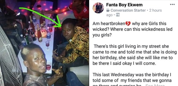 """""""Why are girls this wicked?"""" - Nigerian man laments"""