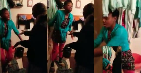 Nigerian Lady and her mother-in-law clash as husband films (Video)