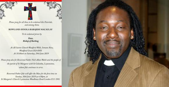 Nigerian gay man set to be ordained an Anglican priest