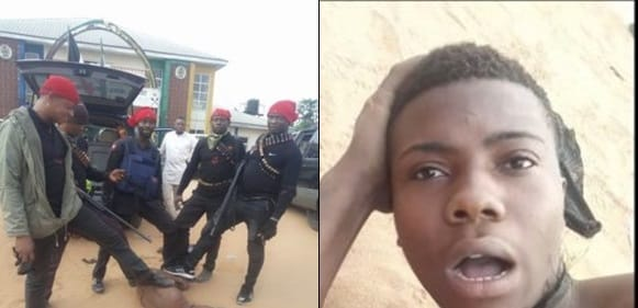 Security Operatives Assault Young Kidnapper Whose Charm Failed Him