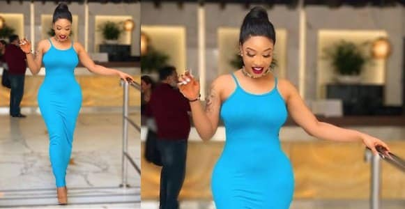 Actress Tonto Dikeh shows off her dress which cost less than ₦1,500