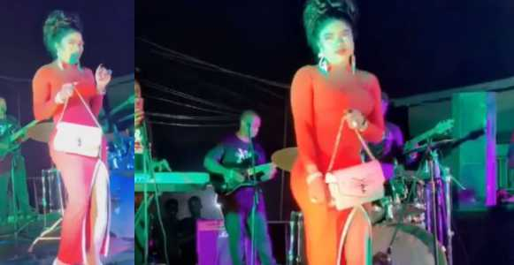 Bobrisky dances on stage as he's serenaded to the tune of 'Lady in red' (Video)