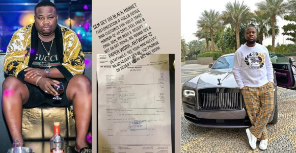 Cubana Chief Priest reacts after Hushpuppi shares proof that shows he really bought a Rolls Royce
