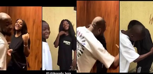Ikorodu Bois Recreate The Moment Davido Spanked Chioma's Ass On Valentine's Day