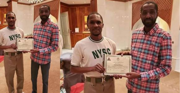 Nigerians react after Yusuf Buhari received NYSC certificate at home