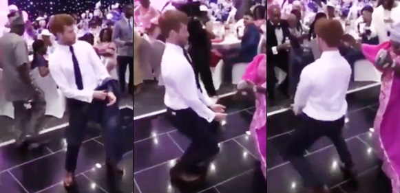 White man steals the show as he dances to the beat of Yoruba songs