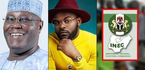 #NigeriaDecides2019: Falz claims PDP won the presidential election at his polling unit in Ikoyi