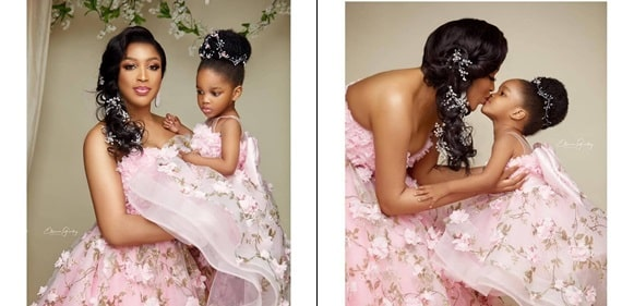 Adoarable Photos Of Dabota Lawson And Her Daughter In Mother-Daughter Photoshoot