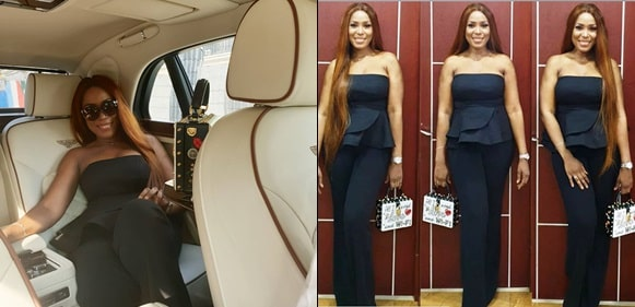 Linda Ikeji Advises Her Fans As She Strikes A Pose Her New Bentley