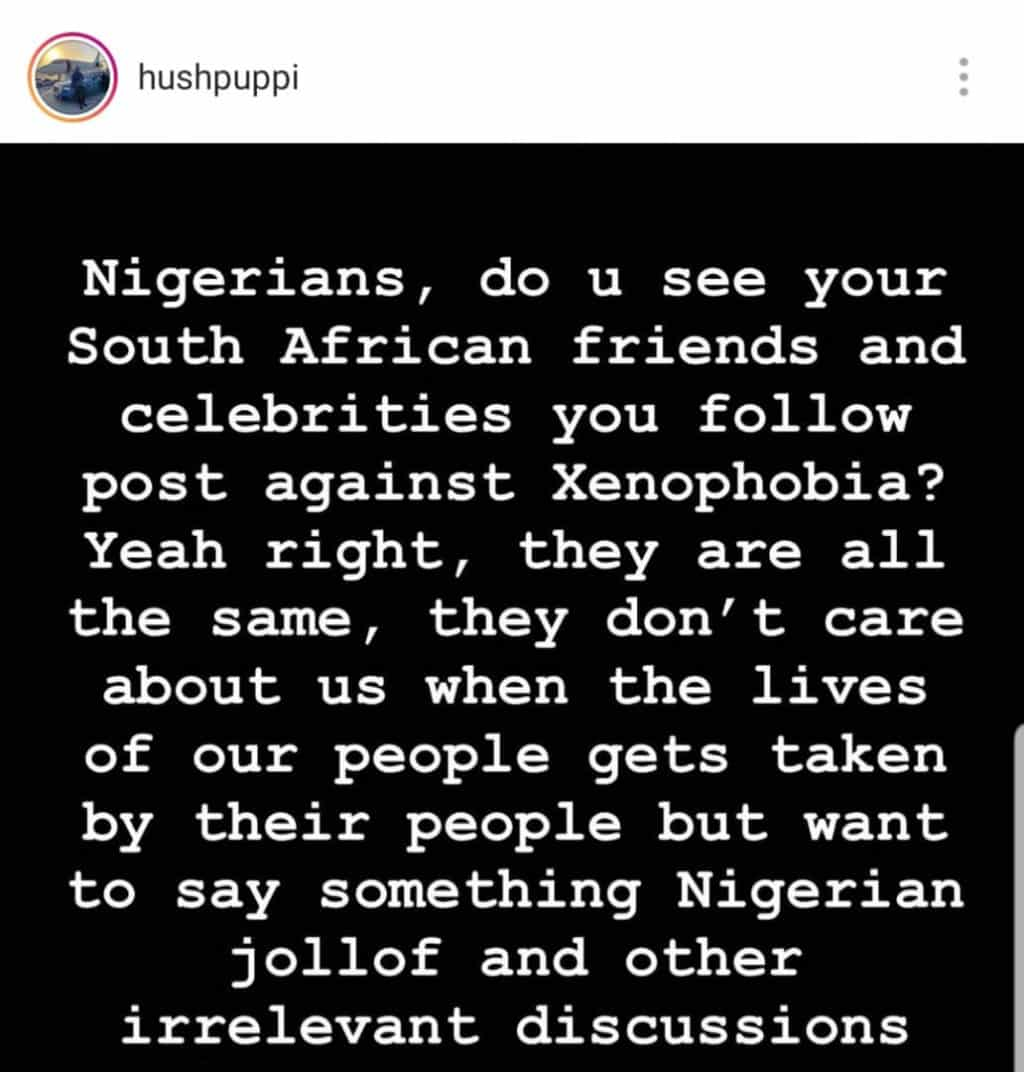 #Xenophia Hushpuppi blasts celebrities for keeping silent